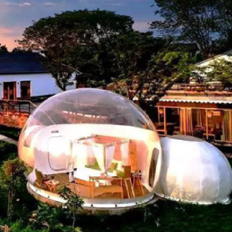 Star globe tent Hotel transparent bubble house outdoor luxury holiday camp hemispherical outdoor camping inflatable tent