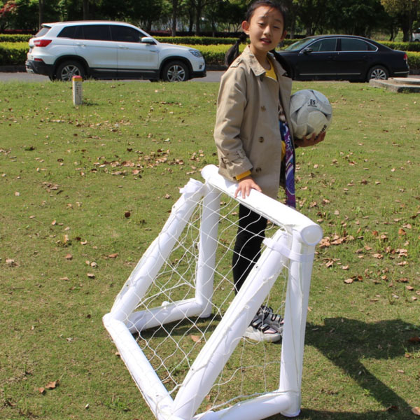 Filming inflatable soccer goal